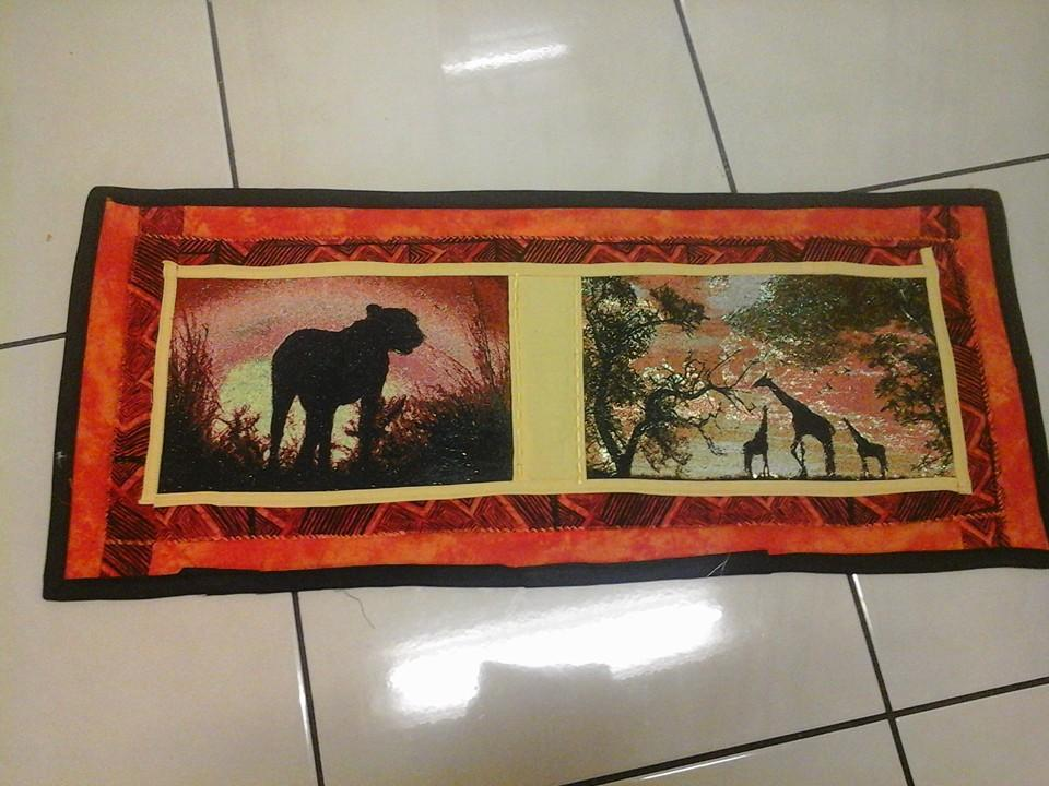 Embroidered african photo stitch carpet