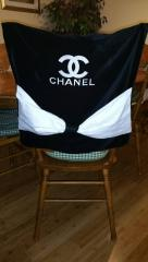 Chanel logo machine embroidery design