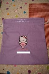 Baby bag with Hello Kitty Ballerina embroidery design