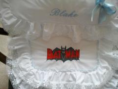 Baby sit with Batman old comics logo embroidery design