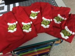 Grinch machine embroidery design