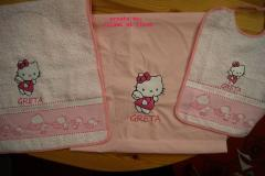 Baby set with Hello Kitty Happy Angel embroidery design
