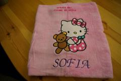 Towel with Hello Kitty with Toy embroidery design