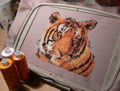 Tiger photo stitch free embroidery design