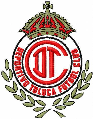 Deportivo Tuluca futbol logo embroidery design