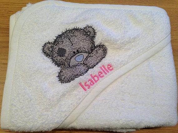 Newborn envelope with Teddy Bear embroidery design