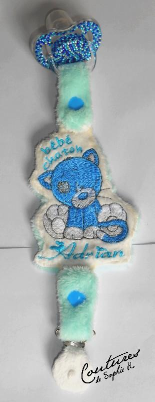 Teat pacifier with embroidery design