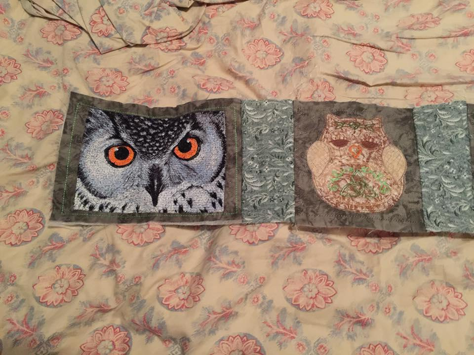 Carpet with Owl free embroidery design