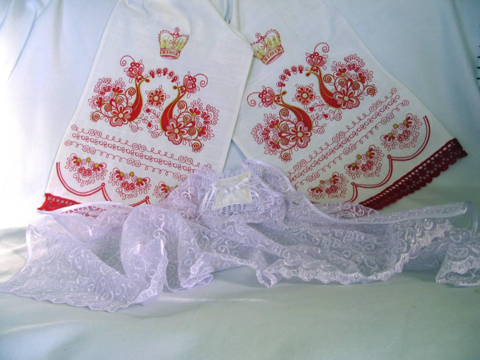 Wedding Gift Towels: Wedding Gift With Firebird Embroidered Towels