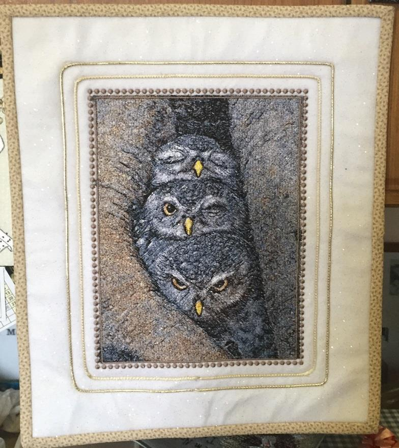Owls photo stitch free embroidery design