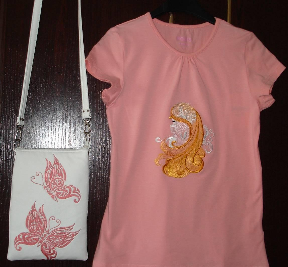 T Shirt With Dream Girl Free Embroidery Design Showcase With Free