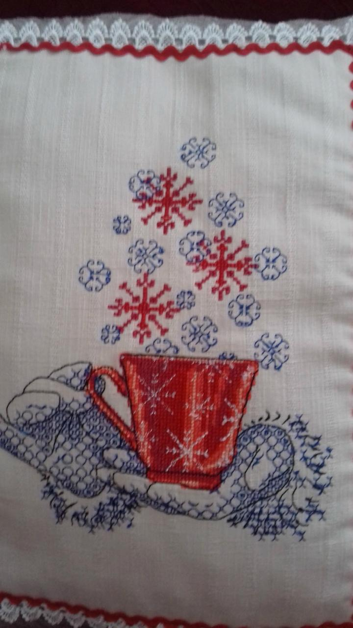 Tea pot cross stitch free embroidery design