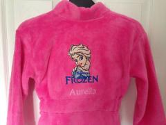 Bathrobe with Elsa embroidery design
