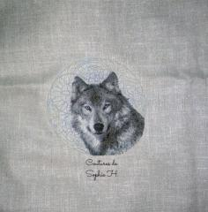 wolf drawing stich