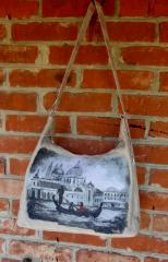 Bag with Venezia photo stitch free embroidery