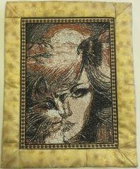 Catwoman carpet photo stitch free embroidery design