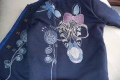 Embroidered jacket with zebra free design