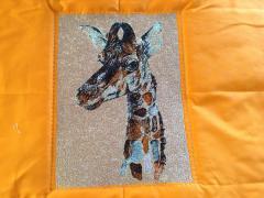 Giraffe photo stitch free embroidery design