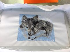 In process wolfs free embroidery design
