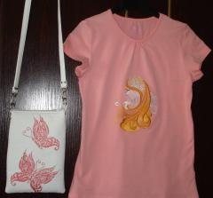 T-shirt with Dream girl free embroidery design