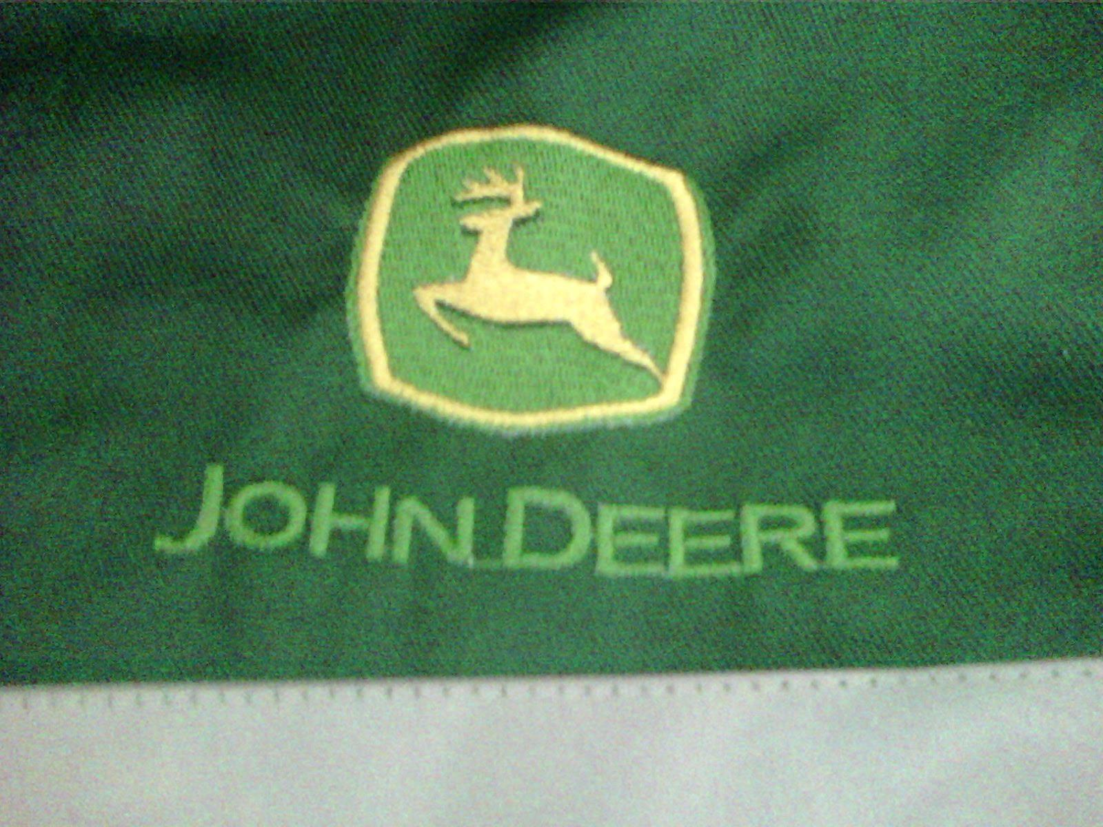 John Deere Emblem Embroidery Designs : John deere logo machine embroidery design embroidered
