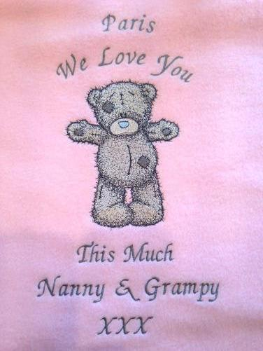 Teddy Bear Hello friend machine embroidery design with name and date