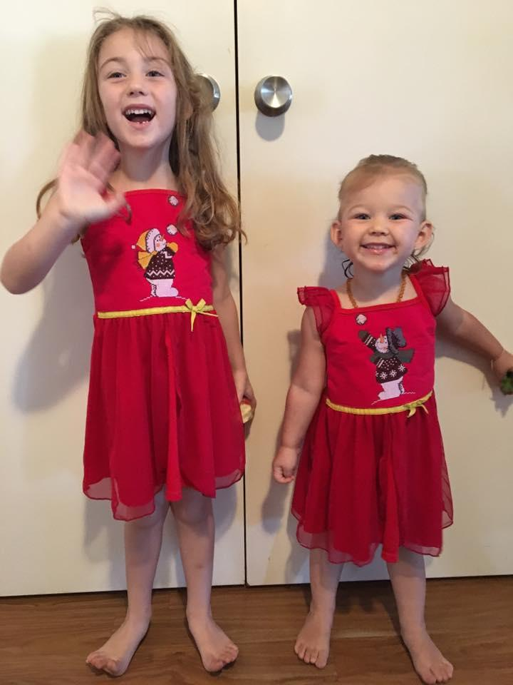 Beautiful granddaughters love their nighties