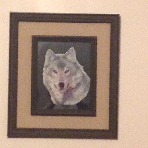 Framed wolf free embroidery design