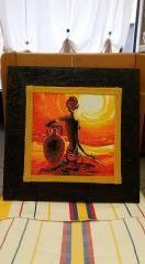 Embroidered Africa sunset photo stitch