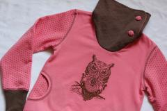 Pajama with Tribal owl machine embroidery design