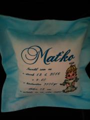 Cushion with Cute angel machine embroidery design