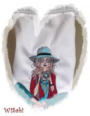 Bag with Lady photographer embroidery design