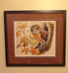Autumn owl photo stitch free embroidery design