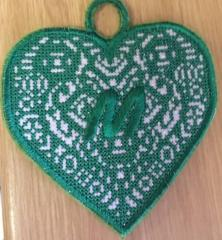 Cross stitch heart free machine embroidery design