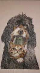 Friends photo stitch free machine embroidery design