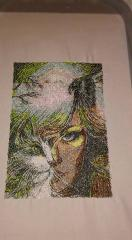 Magic Woman photo stitch free embroidery
