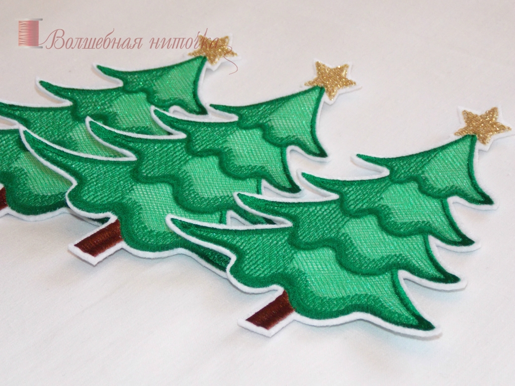 Christmas applique tree stock illustration  shutterstock