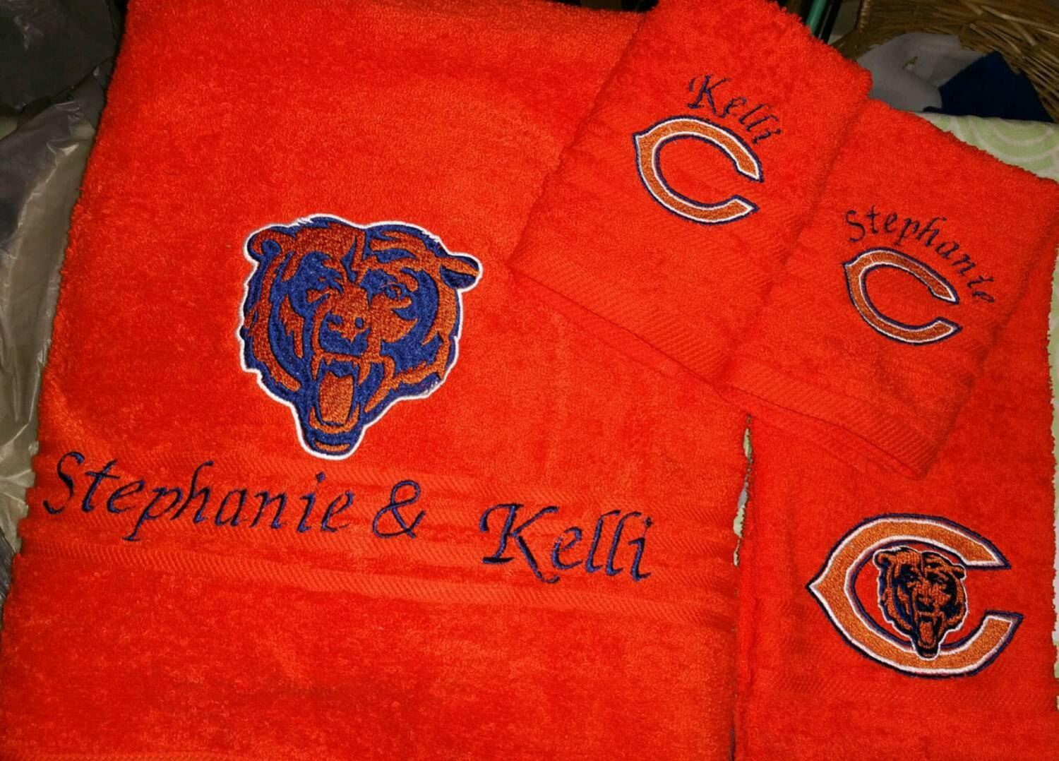 Chicago Bears Logo Machine Embroidery Design Embroidered Logotype