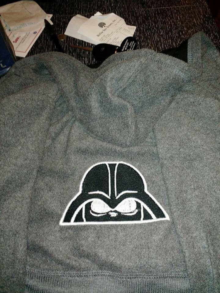Shirt with The dark side embroidery design