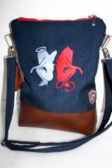 Handbag with Antithesis machine embroidery design