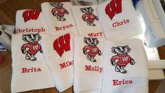Badgers Logo machine embroidery design