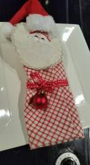 Red Santa Claus Christmas serviette