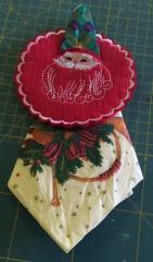 Serviette holder santa claus free embroidery design
