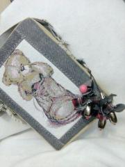 Small bag with teddy bear photo stitch