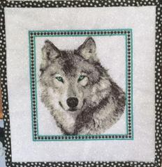 Stitched wolf free embroidery design