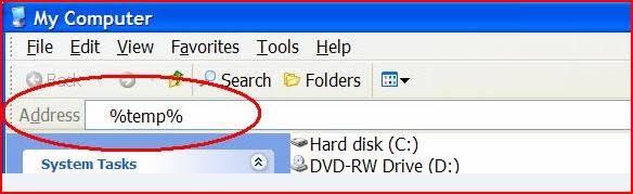 Clean temp folder
