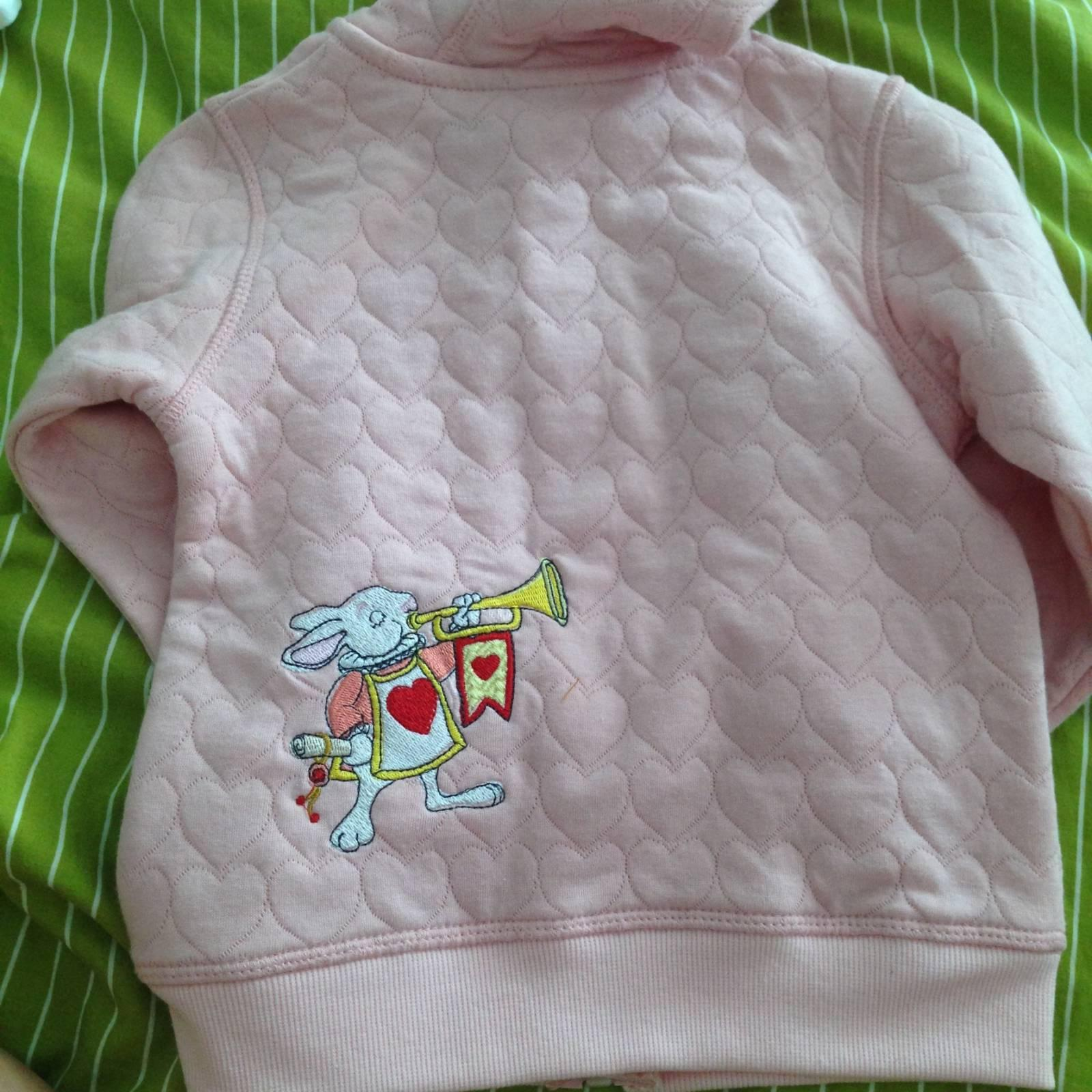 Outfit with Rabbit trumpeter embroidery design