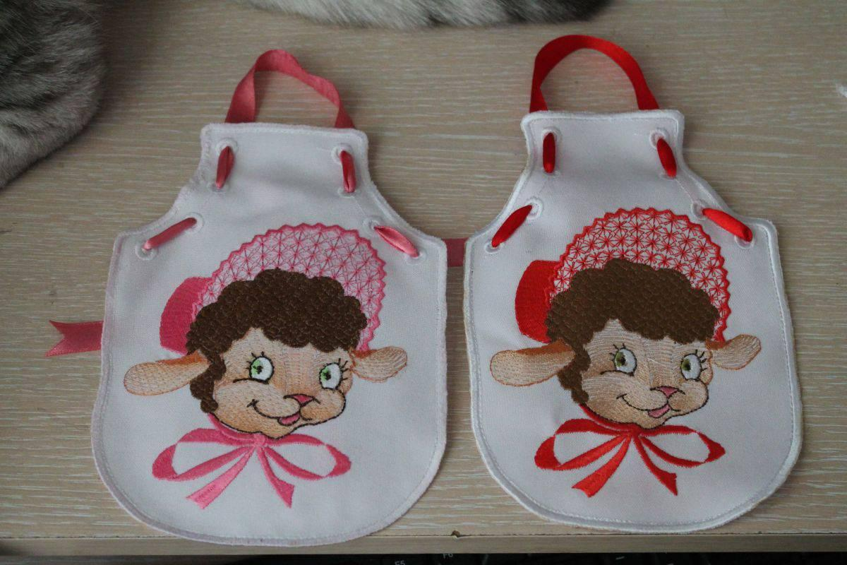 Baby gift with Happy lamb free embroidery design