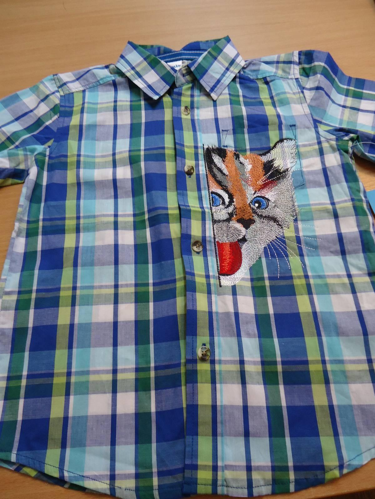Men's shirt with playing cat free embroidery design