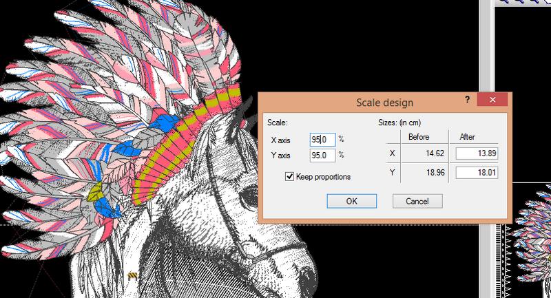 Change design size in percent